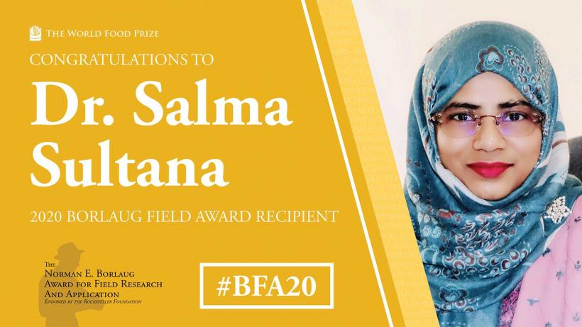 Dr. Salma Sultana - Asia's one of the most outstanding researcher.